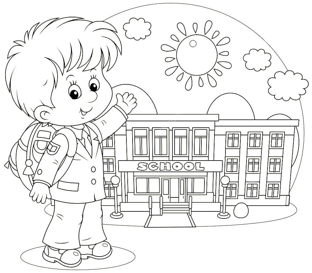 Раскраски к 1 сентября для детского сада, тематика открытки картинки