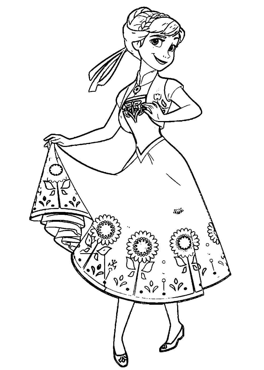 Раскраски Анны распечатать или скачать бесплатно в формате PDF