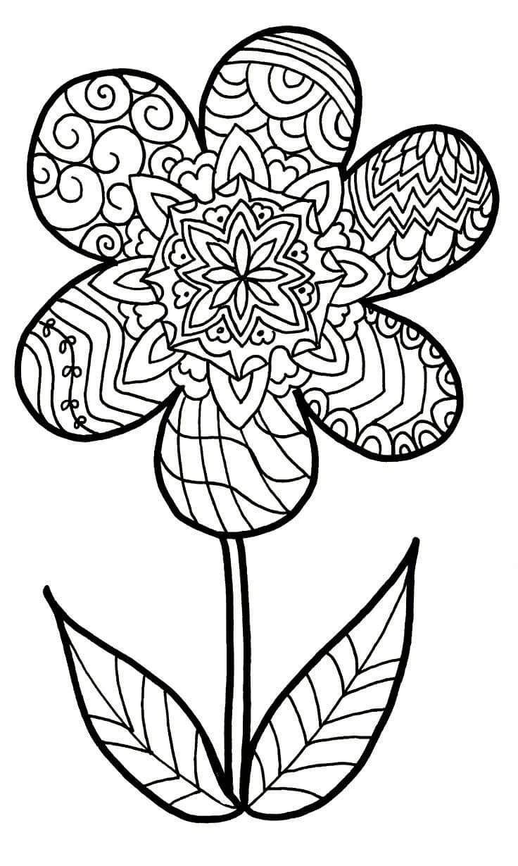 Раскраски Антистресс Цветы распечатать или скачать ...