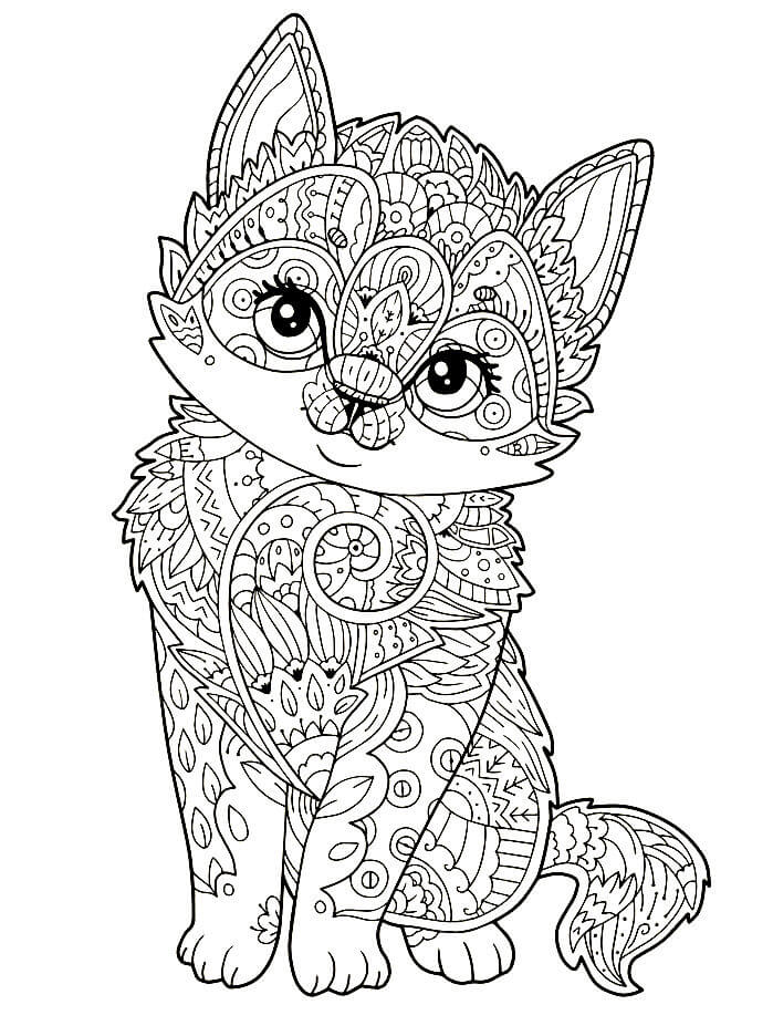 Раскраски Антистресс Кошки распечатать или скачать ...
