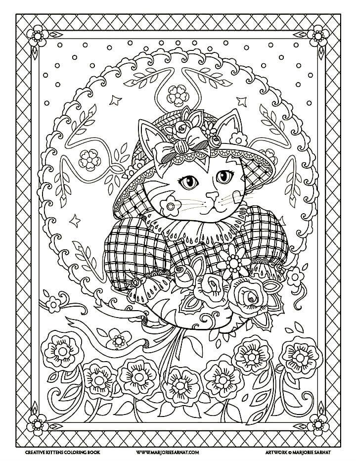 раскраски антистресс кошки распечатать или скачать бесплатно
