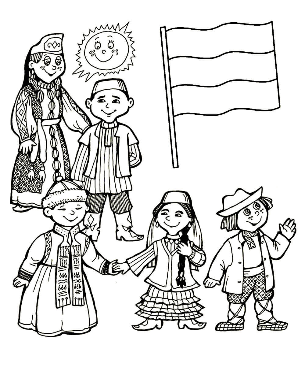 Рисунок ко дню народного единства карандашом