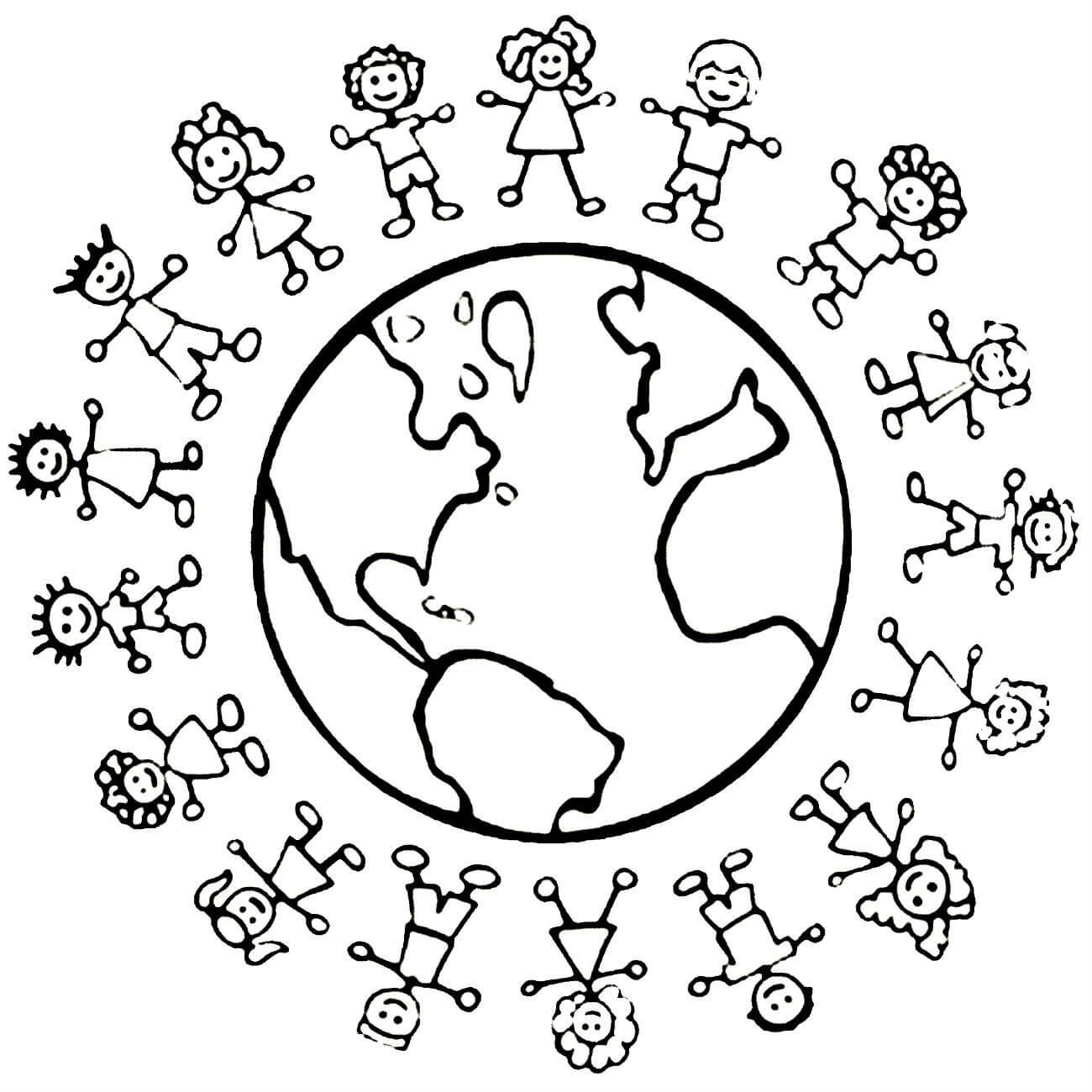 первом раскраска на тему мы за мир на планете счет