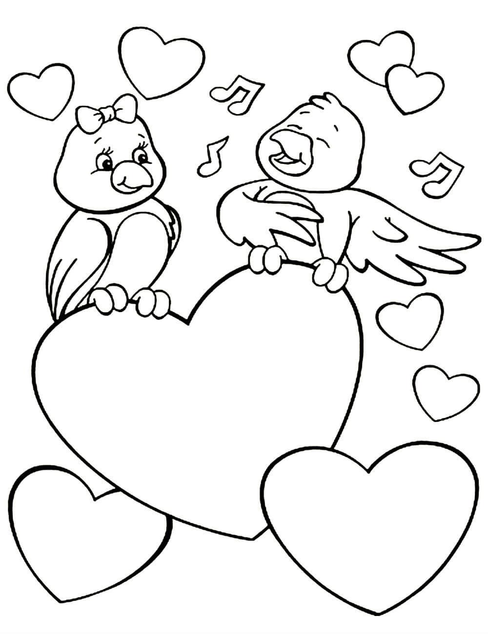 птицы средней картинки с днем святого валентина черно белые живи век учись