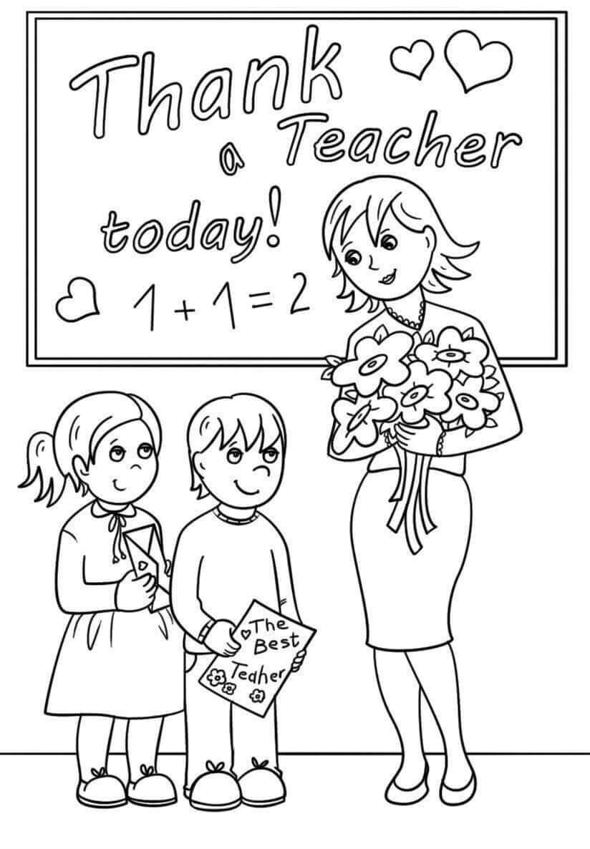 Раскраски День учителя распечатать или скачать бесплатно в ...