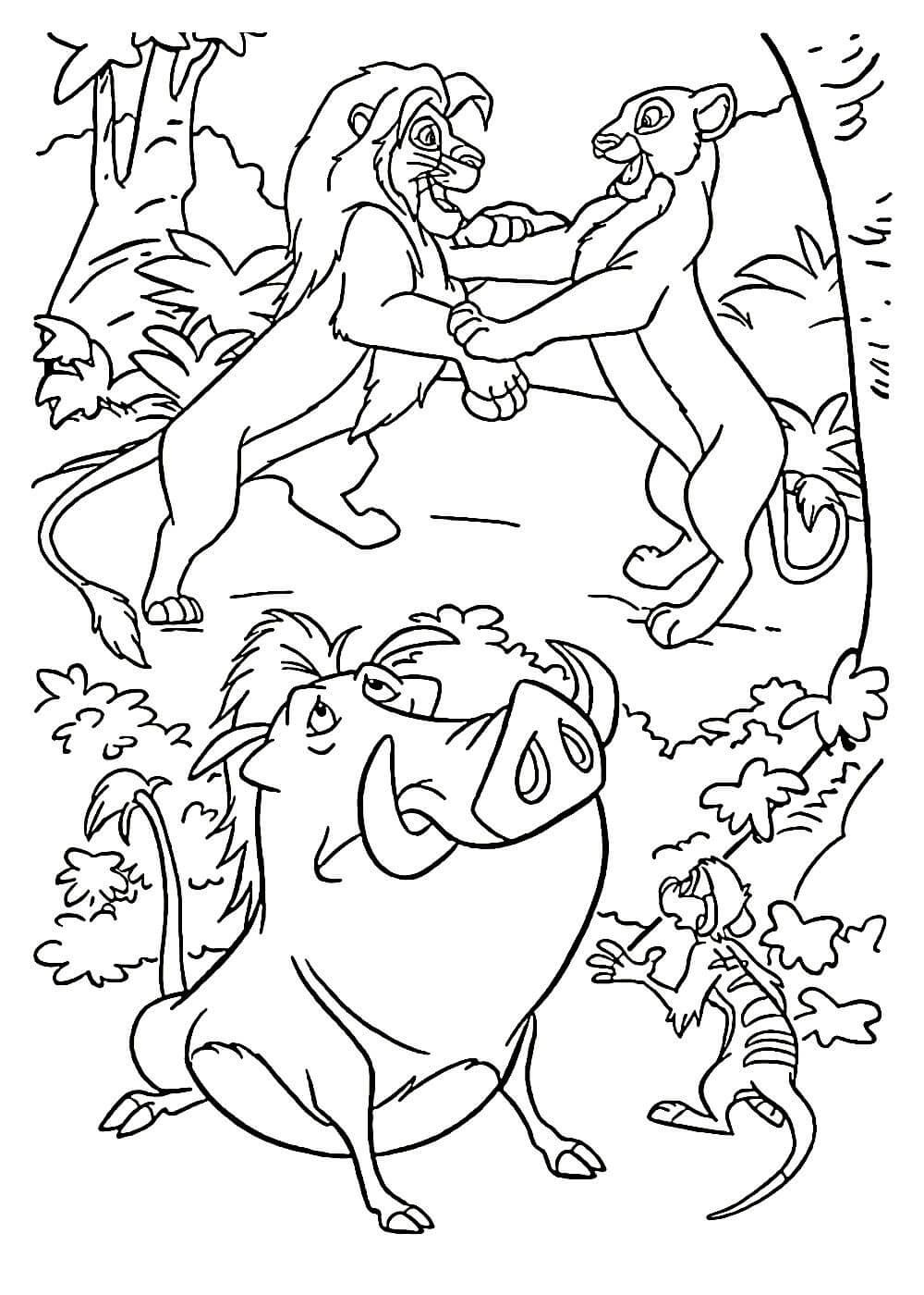 Раскраски Король Лев распечатать или скачать бесплатно в ...