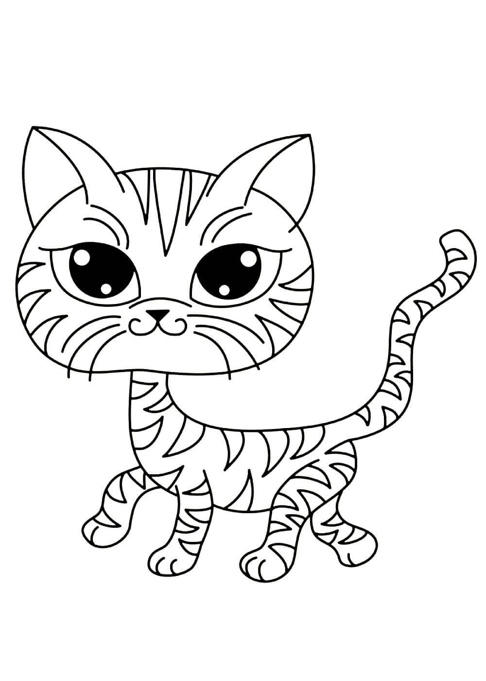 Раскраски Коты и кошки распечатать или скачать бесплатно в ...