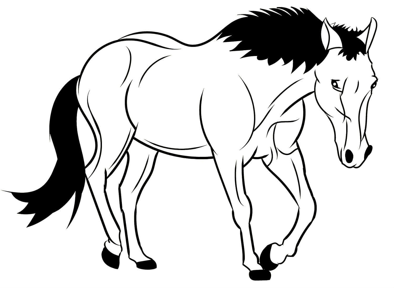Лошадка картинки для детей распечатать для раскраски, картинки