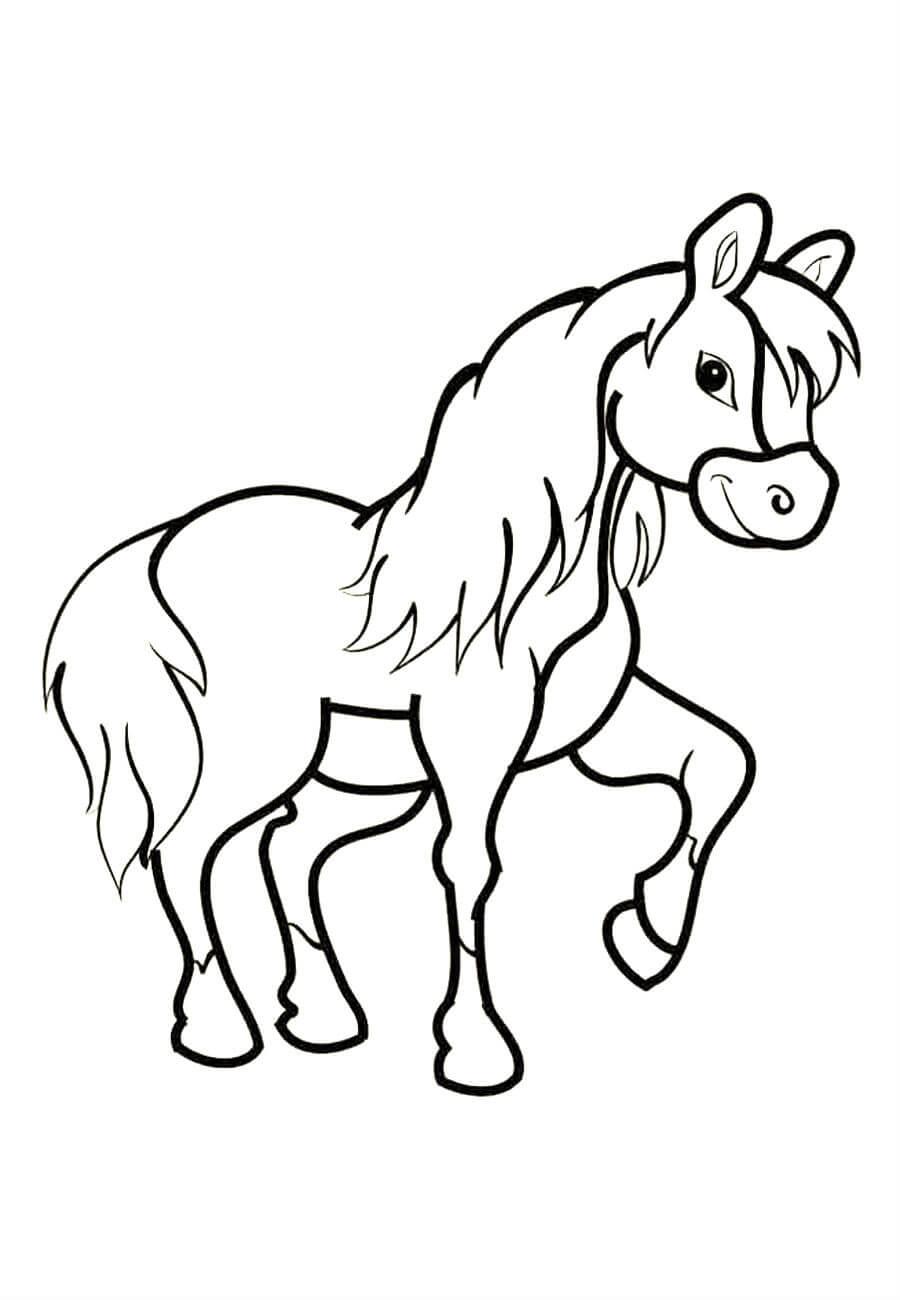 Лошадки в картинках для раскрашивания