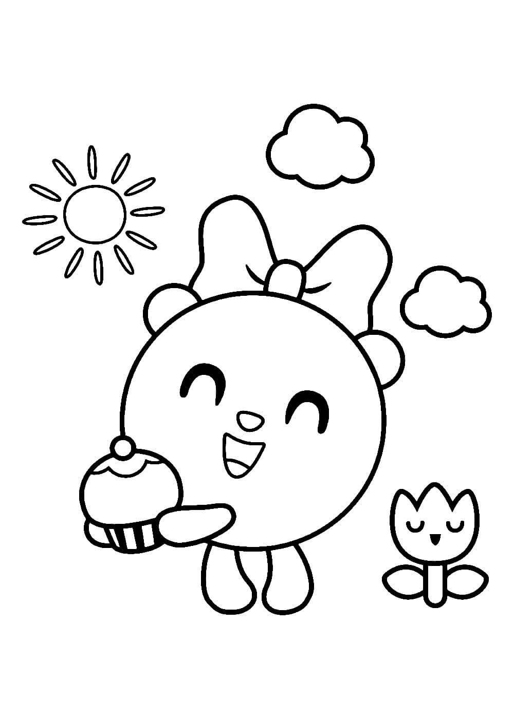 Раскраски малышарики распечатать или скачать бесплатно в ...