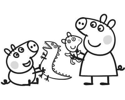 Раскраски Свинка Пеппа распечатать или скачать бесплатно в ...