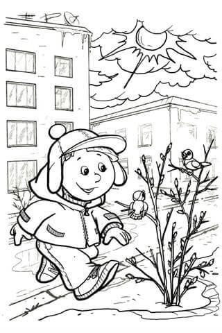 Раскраски Весна распечатать или скачать бесплатно в ...