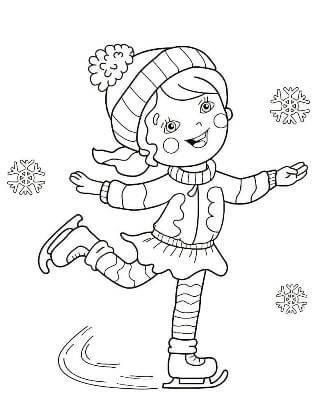 Раскраски Зима распечатать или скачать бесплатно в формате PDF