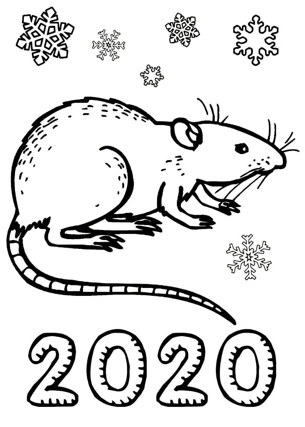 Новогодние раскраски 2020 года распечатать
