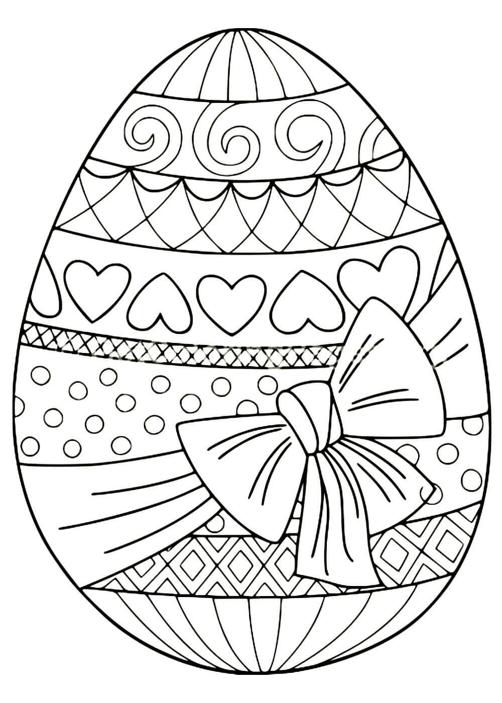 Раскраски Пасхальных яиц распечатать или скачать бесплатно ...