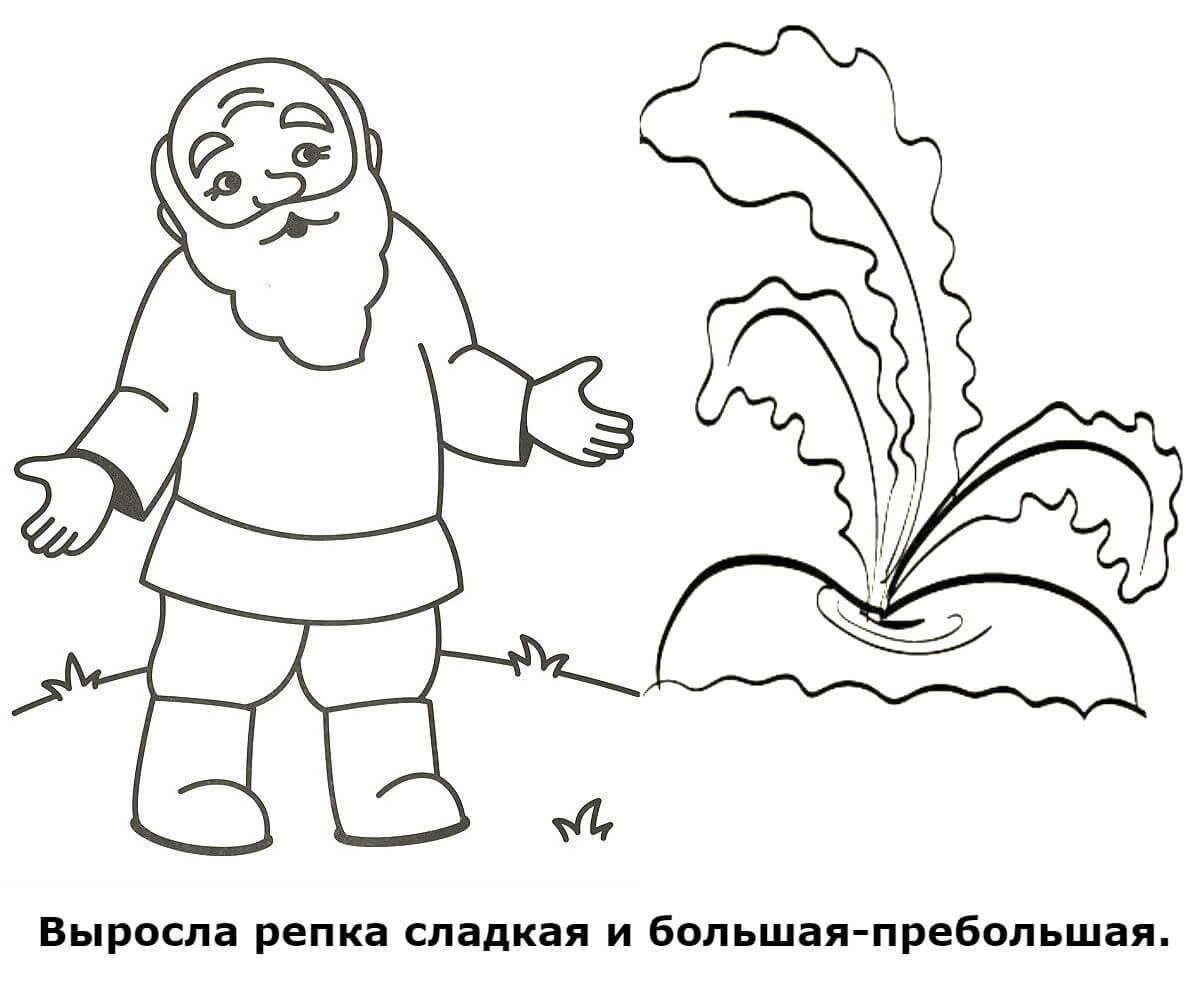 рисунки к сказке репка карандашом