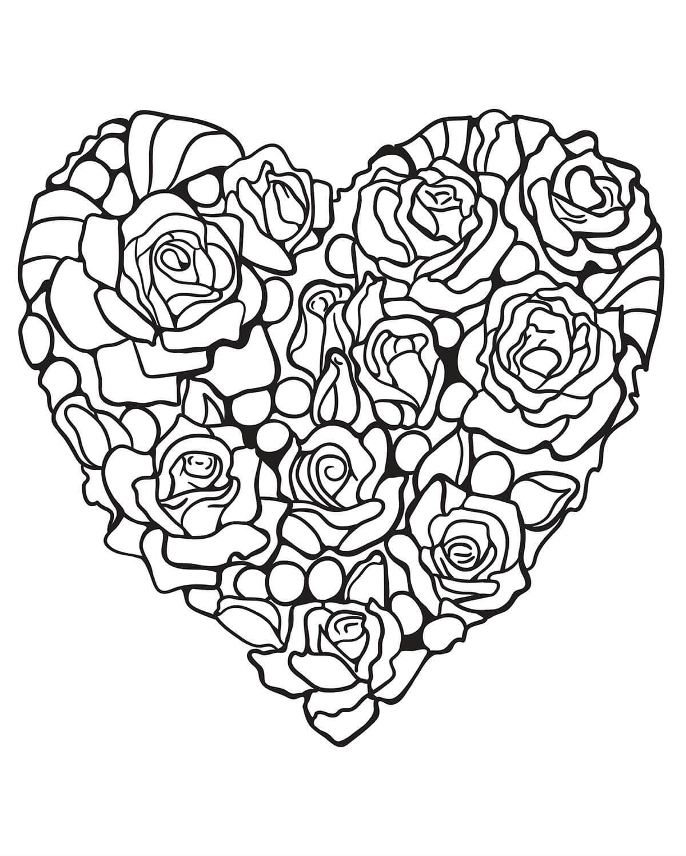 Красивые картинки для девочек раскраски сердечки цветочки, тебя солнышко
