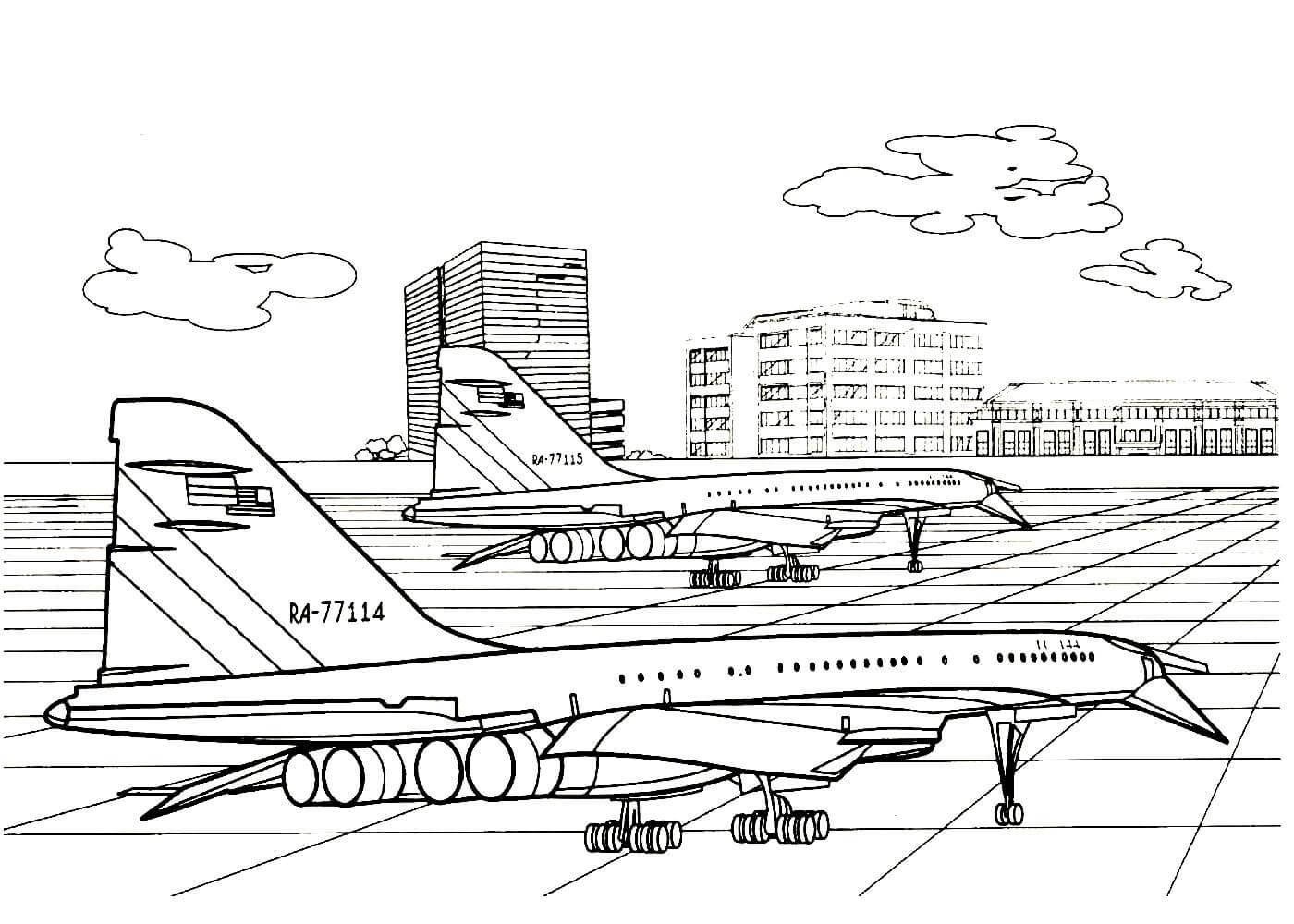 Раскраски Самолёты распечатать или скачать бесплатно в ...