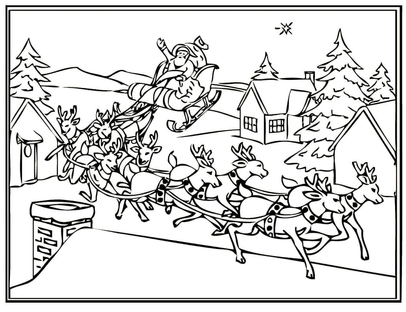 одна особенность картинки санта клауса с оленями раскраска скачки