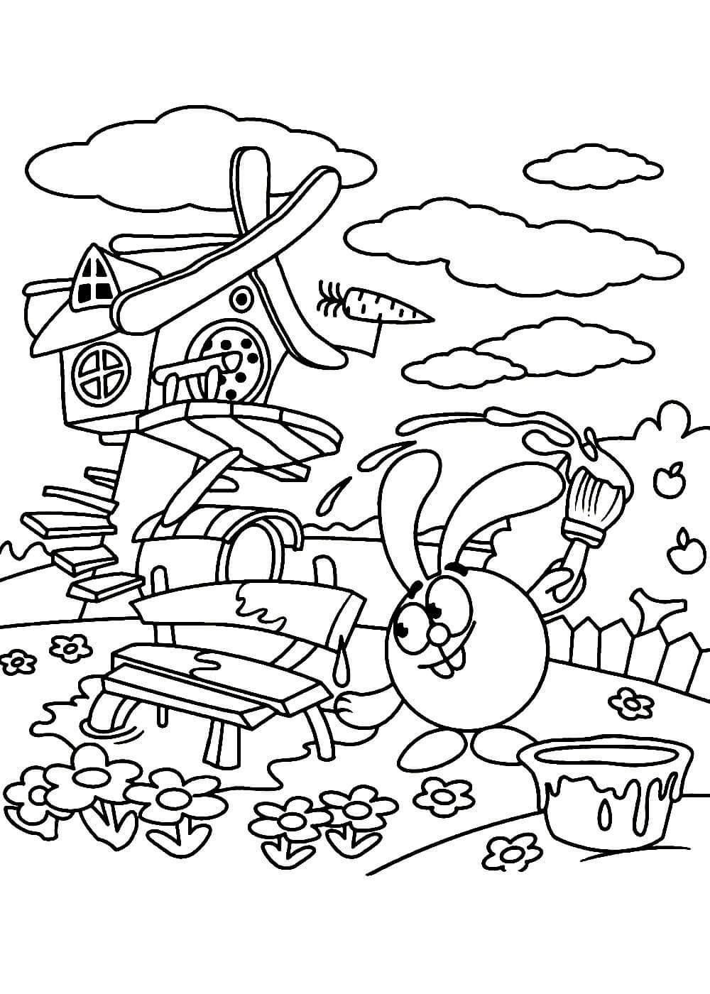 Раскраски Смешарики распечатать или скачать бесплатно в ...