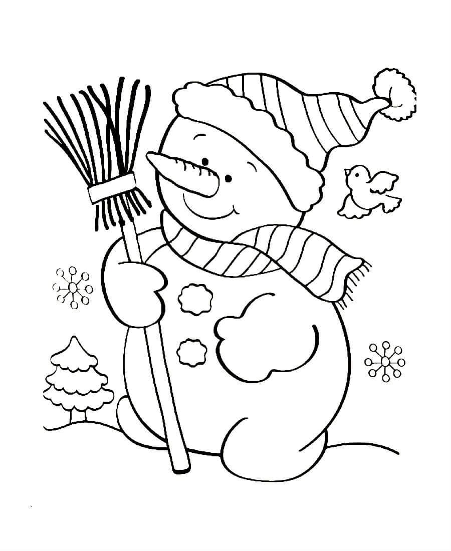 Раскрасить снеговика картинки