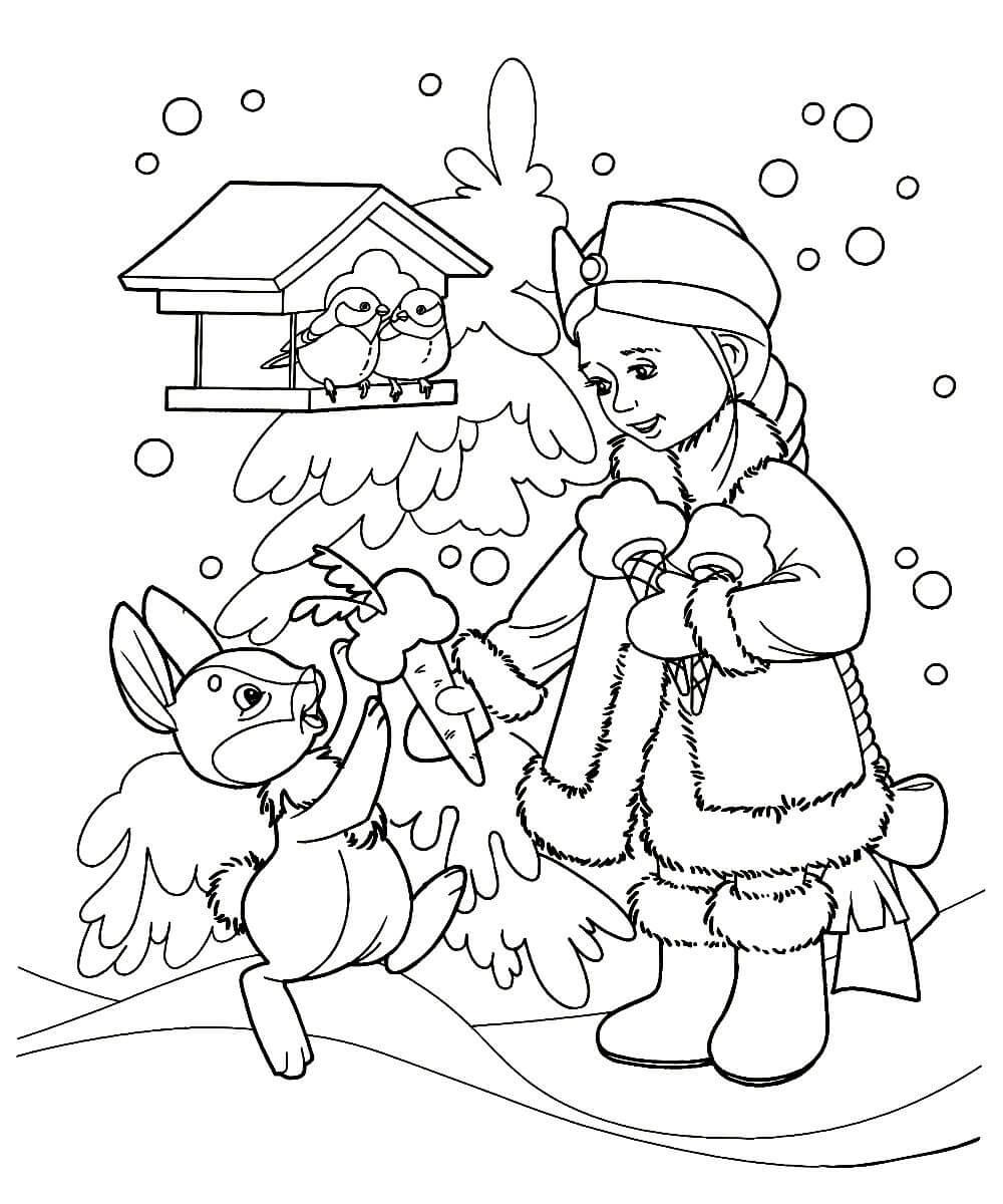 Раскраски Снегурочка распечатать или скачать бесплатно в ...