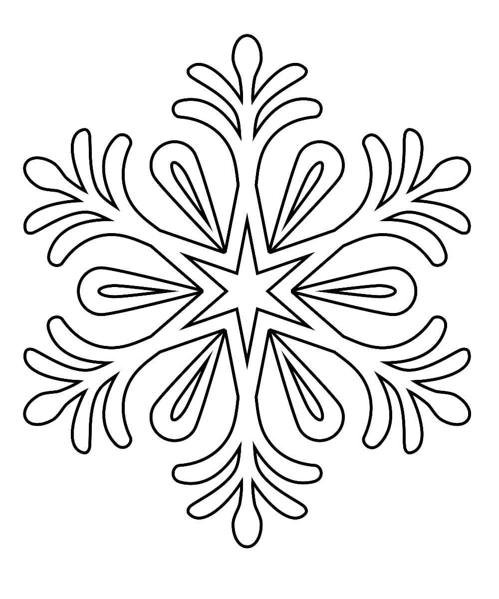 картинки снежинок печатать