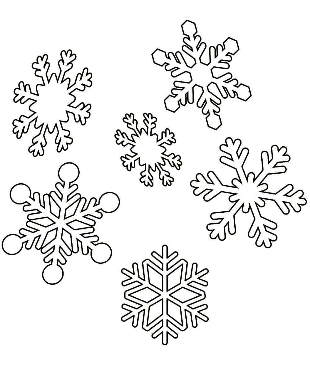 Картинка разукрашка снежинки