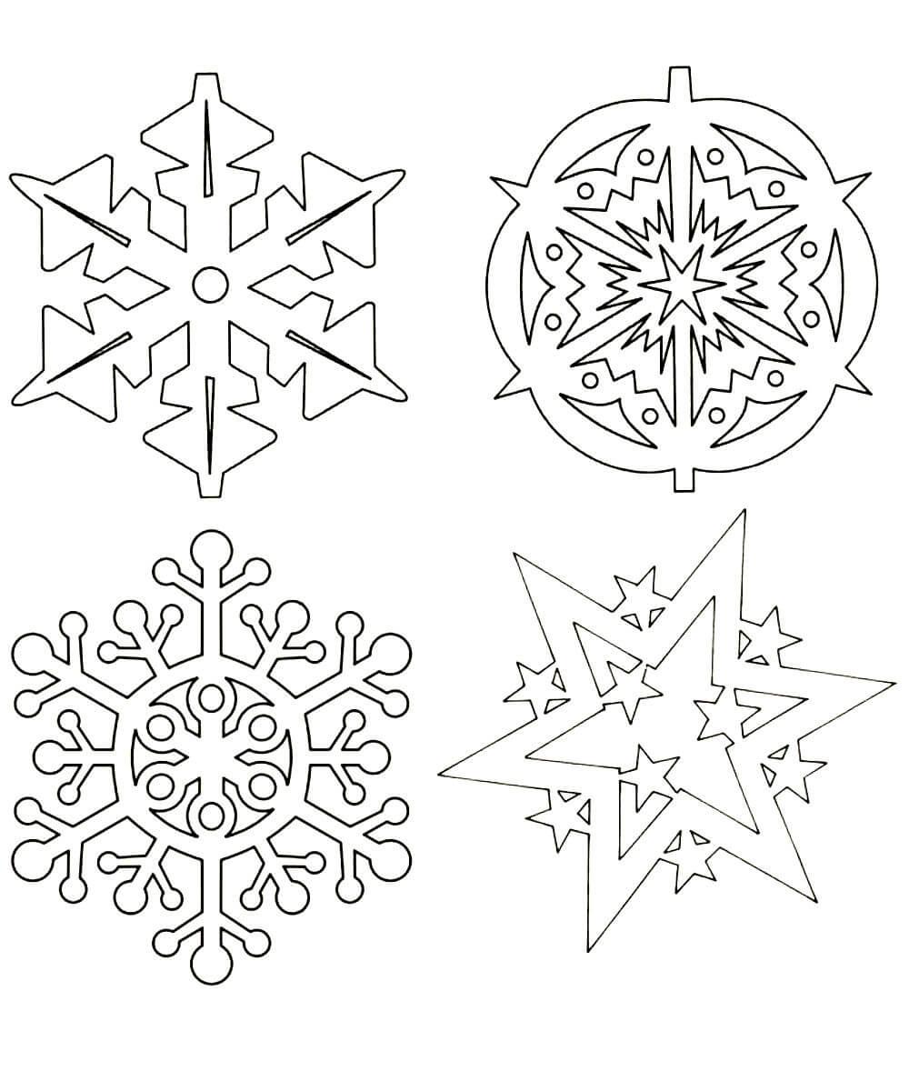 Раскраски Снежинки распечатать или скачать бесплатно в ...