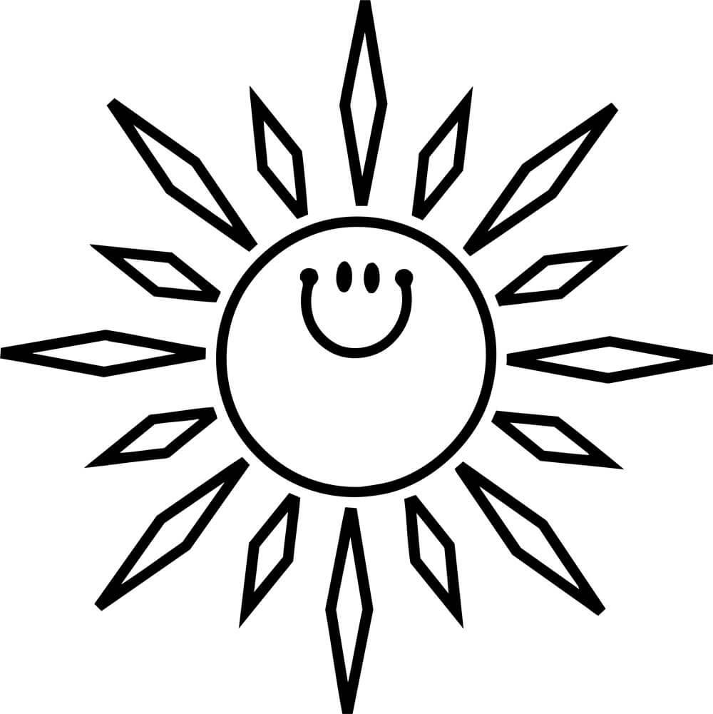 Раскраски Солнышко распечатать или скачать бесплатно в ...