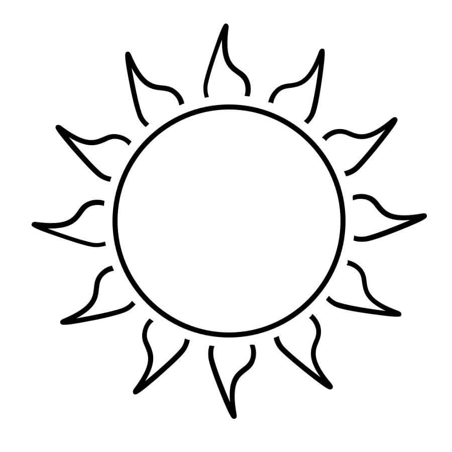 Открытки, солнце картинки для детей раскраска
