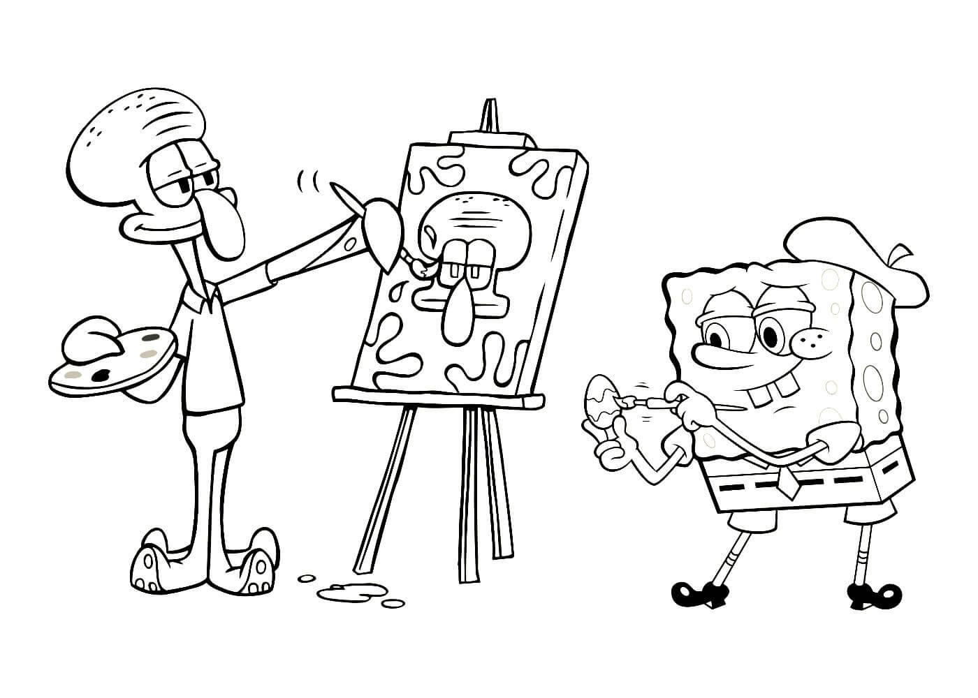 Раскраски Спанч Боб (Губка Боб) распечатать или скачать ...