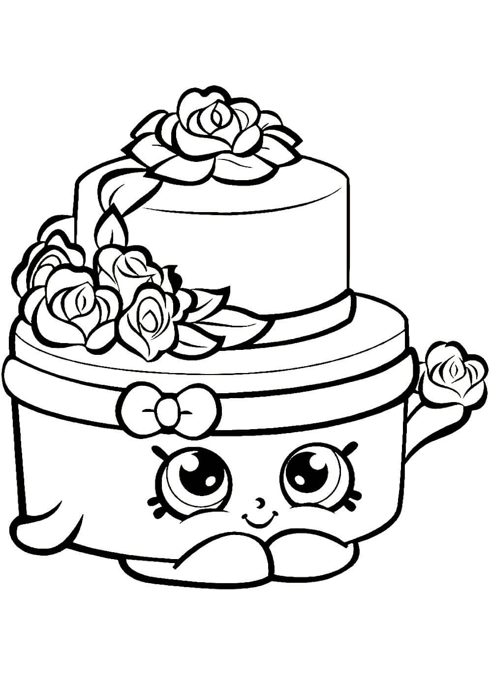 Раскраски тортов распечатать или скачать бесплатно в ...