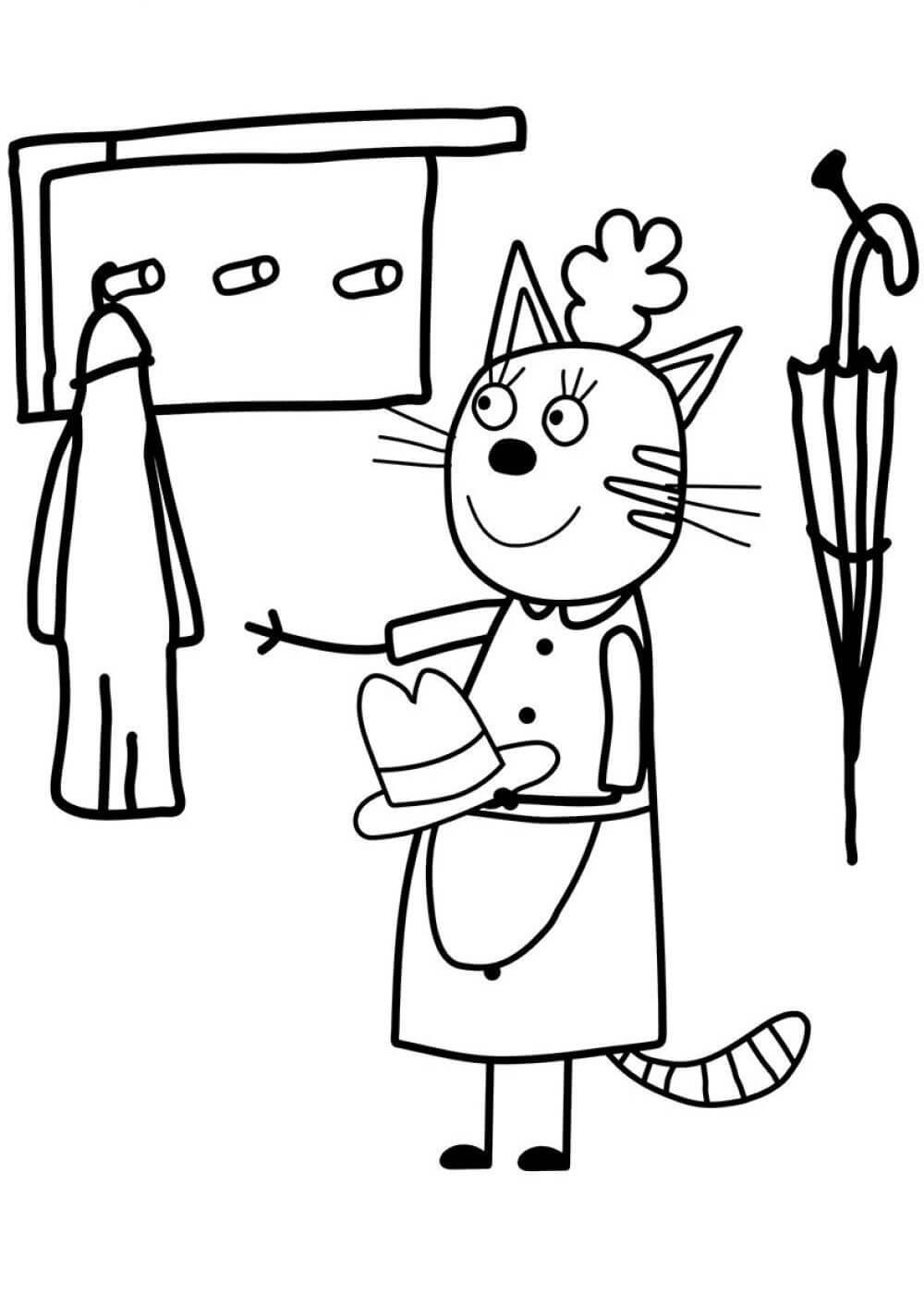 Раскраски Три кота распечатать или скачать | Детские раскраски