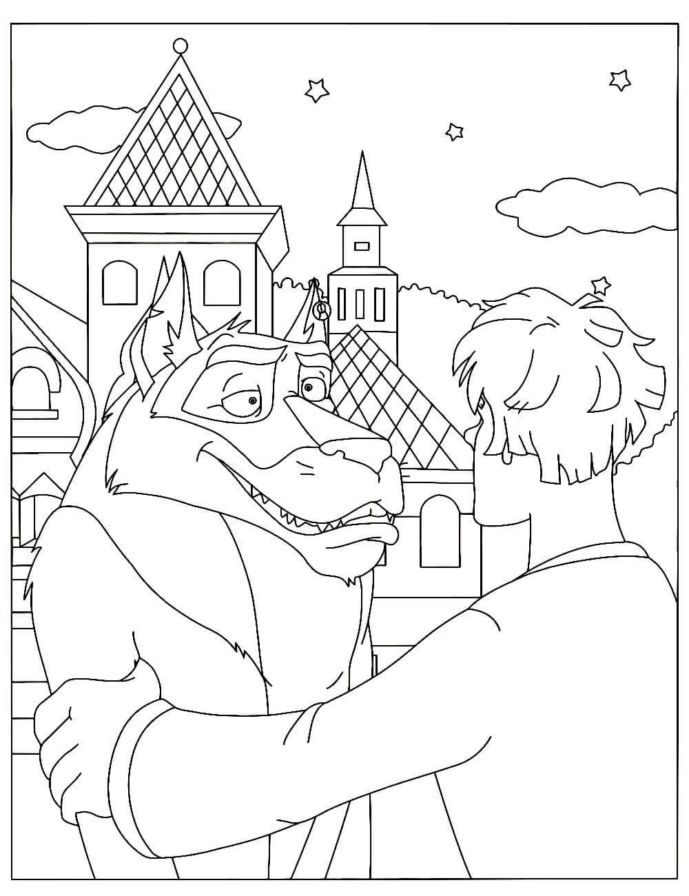 Раскраски Волк распечатать или скачать бесплатно в формате PDF