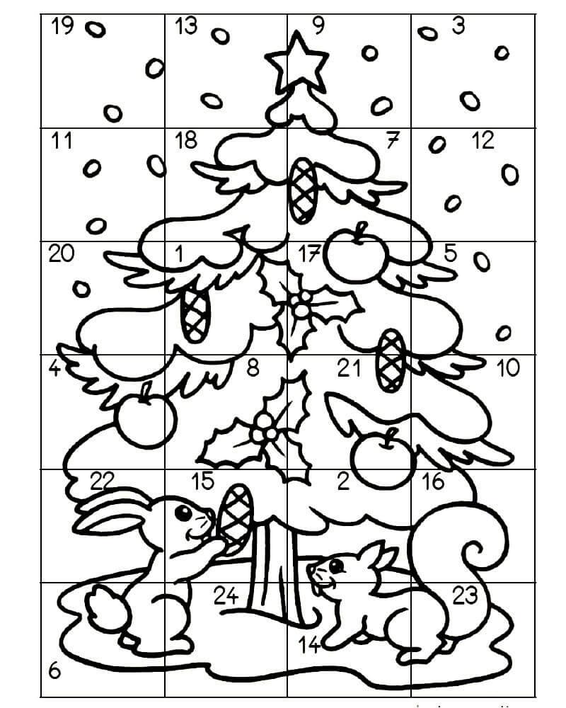 Раскраски Ёлка распечатать или скачать бесплатно в формате PDF